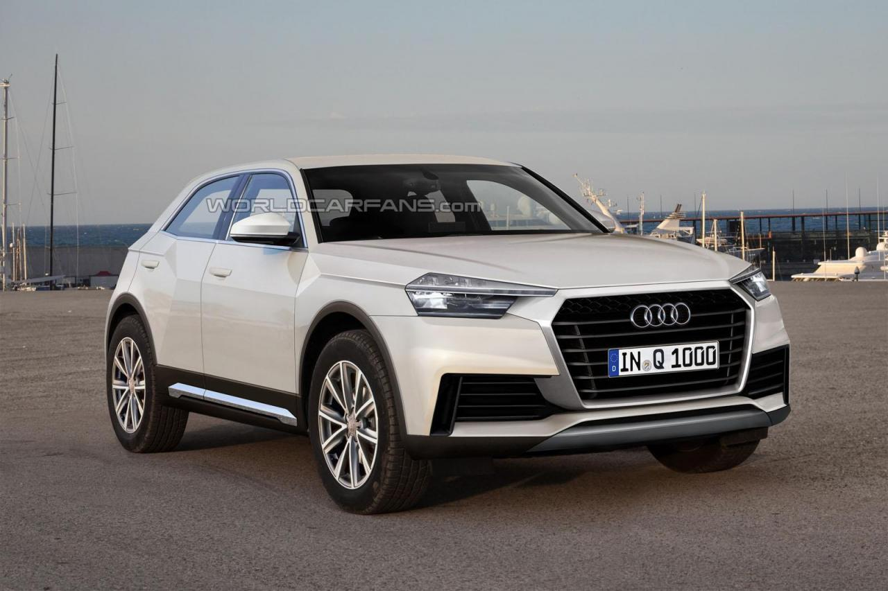 Audi Q1 SUV rendered