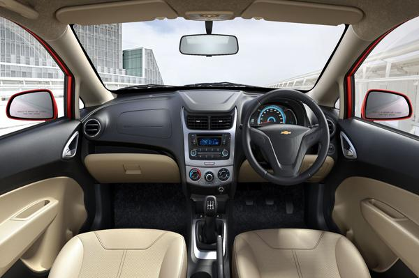 Chevrolet Sail facelift interiors