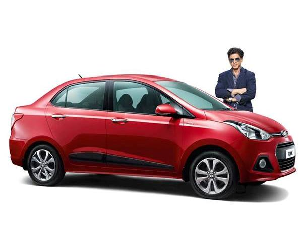 Hyundai Xcent with Shahrukh Khan