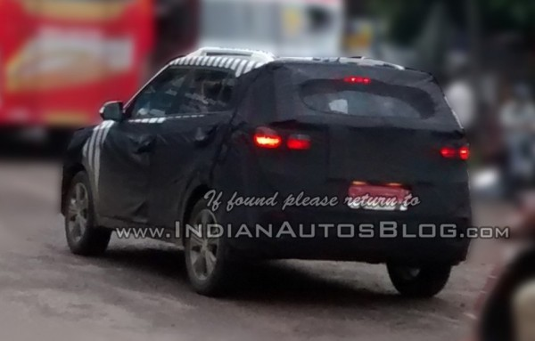 Hyundai ix25 SUV spied in India rear profile