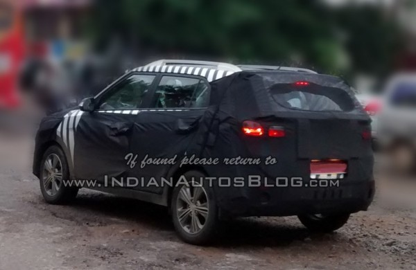 Hyundai ix25 SUV spied in India side profile