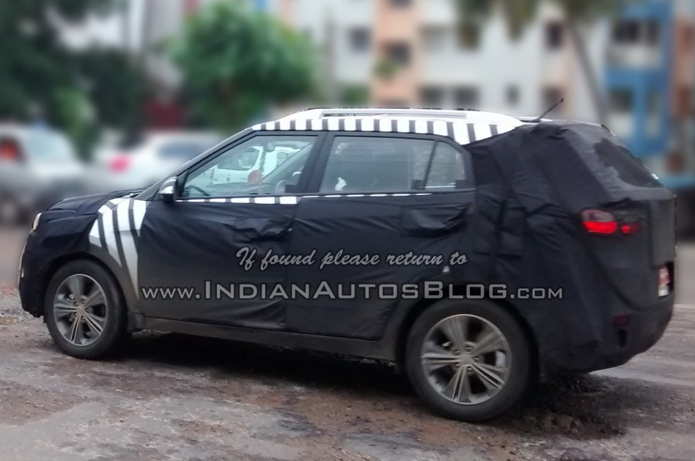 Hyundai ix25 SUV spied in India