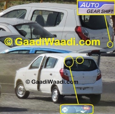 Maruti Alto K10 AMT facelift rear with AMT gearbox
