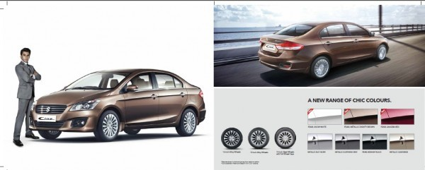 Maruti Ciaz colours and wheels