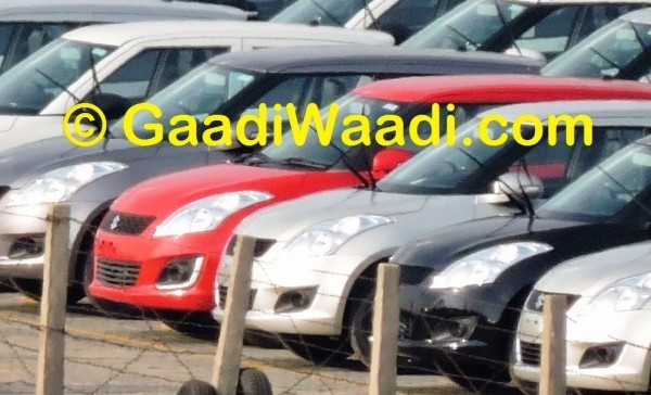 Maruti Swift facelift in parking lot
