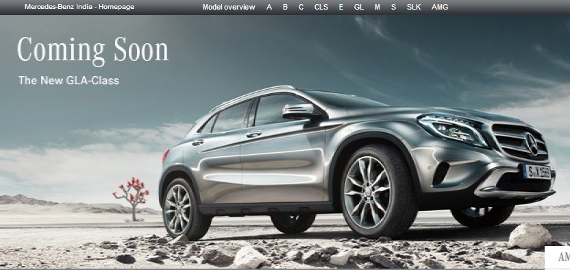 Mercedes benz gla crossover listed on india s site for Mercedes benz gla india