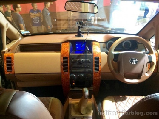 Modified Tata Aria interiors