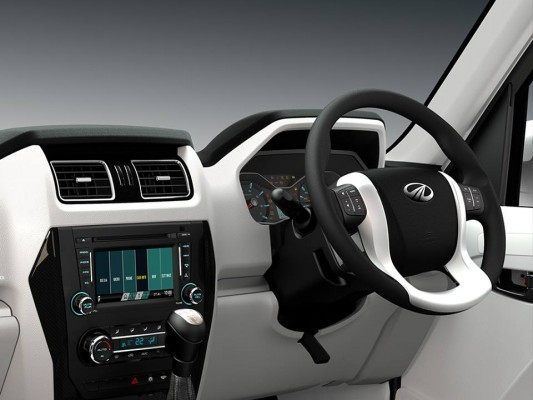 New Mahindra Scorpio mulitfunctional steering wheel