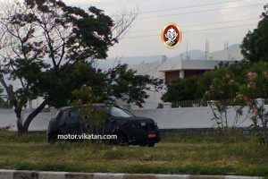 Renault XBA small car spied