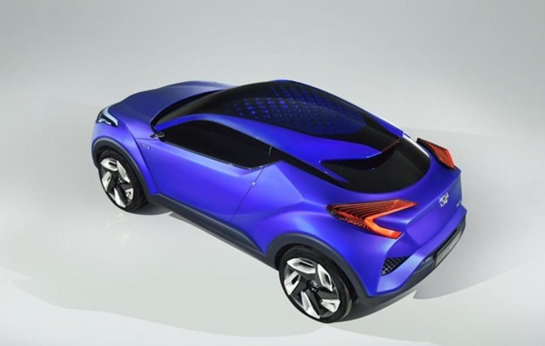 Toyota CH-R crossover concept top view
