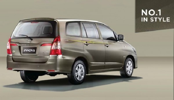 Toyota Innova Limited Edition rear end