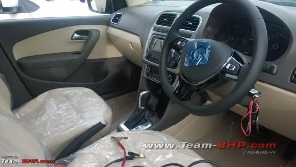 Volkswagen Vento facelift interiors