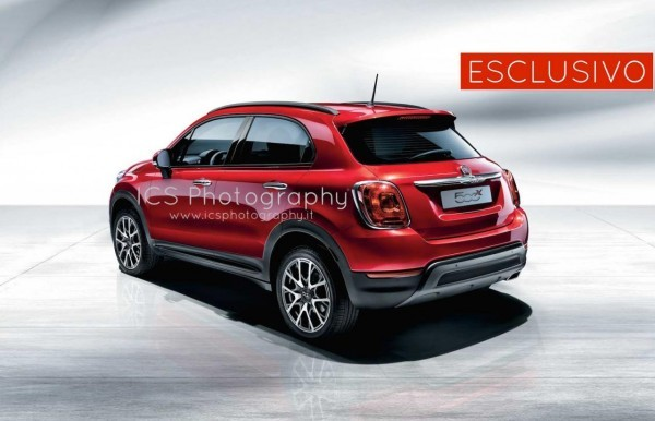 Fiat 500X rear profile revealed