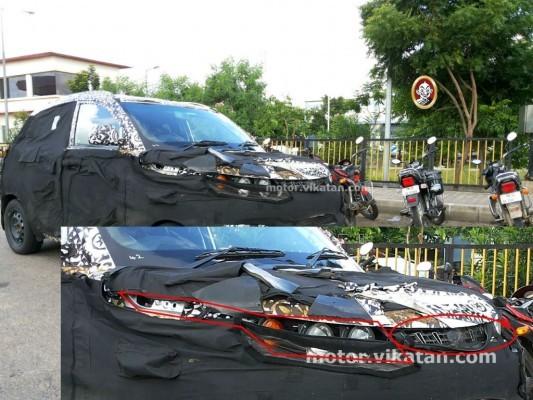 Mahindra S101 spied wearing dumy headlights