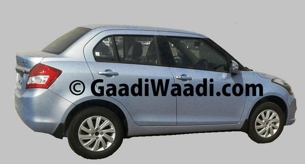 Maruti Suzuki Swift Dzire facelift side profile