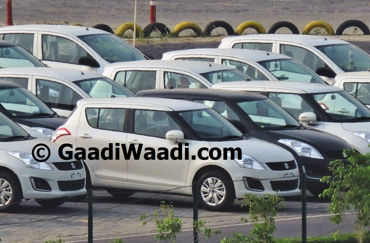 Maruti Swift facelift with DRLs