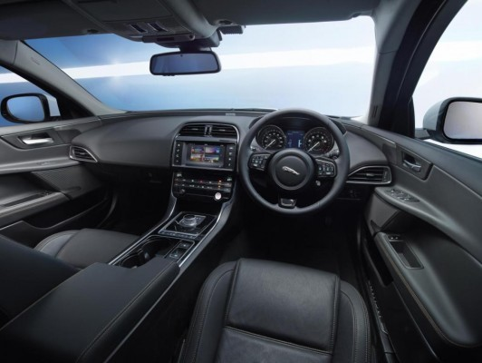New Jaguar XE Sedan dashboard and interiors