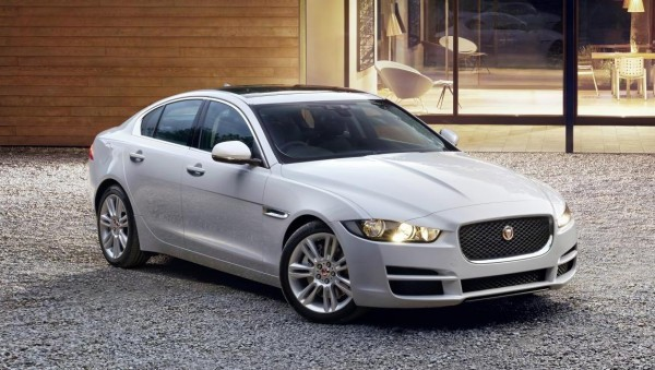 New Jaguar XE Sedan front headlamps and alloys