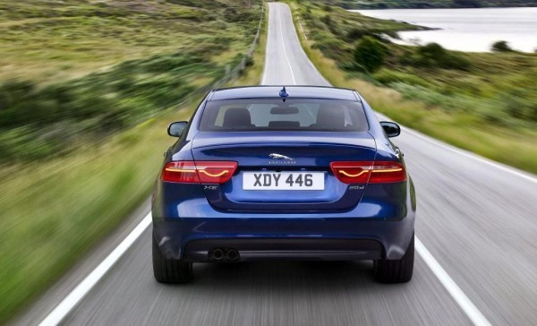 New Jaguar XE Sedan rear profile and tail lamps