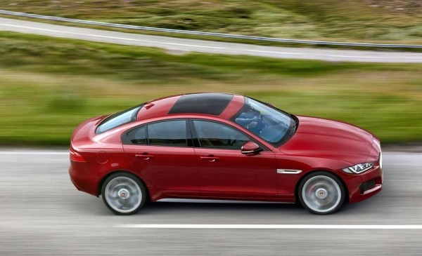 New Jaguar XE Sedan side profile and sunroof