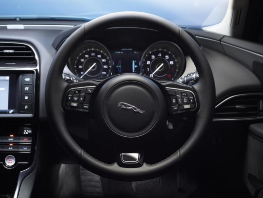New Jaguar XE Sedan steering wheel