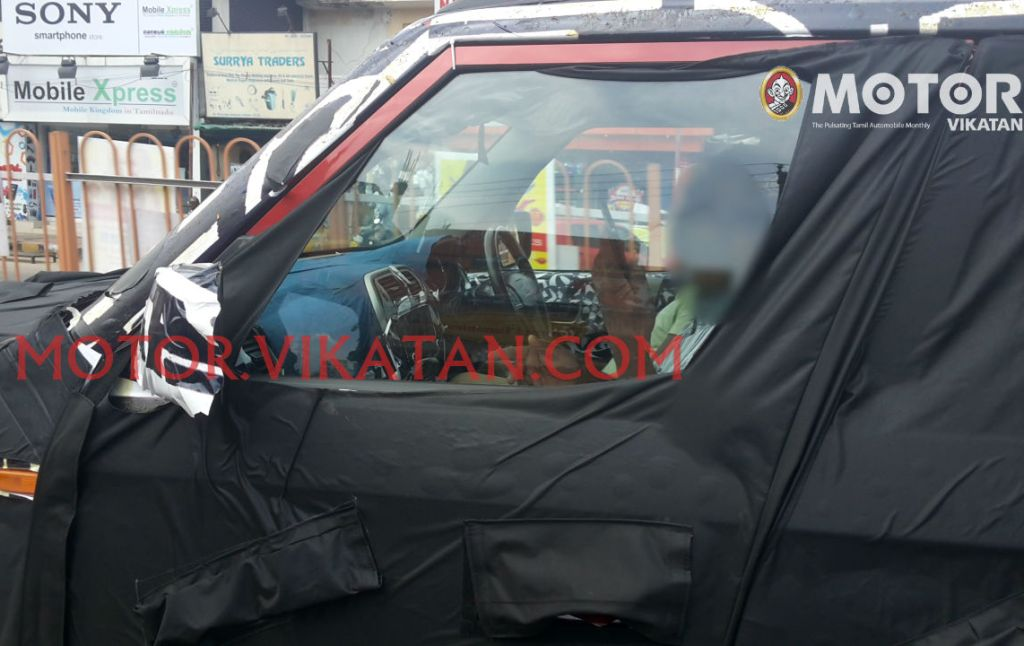New Mahindra U301 Bolero interiors snapped