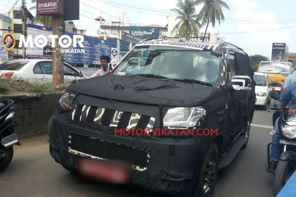 New Mahindra U301 Bolero spied front fascia