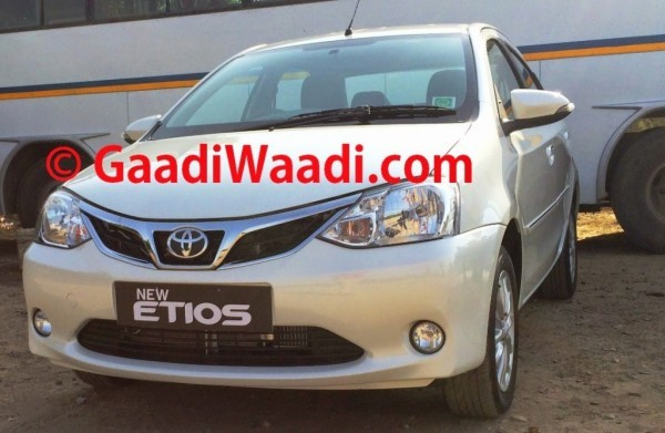 New Toyota Etios facelift chrome grille