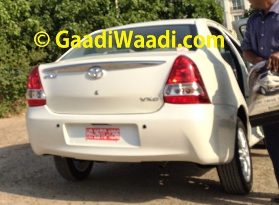 New Toyota Etios facelift rear profile