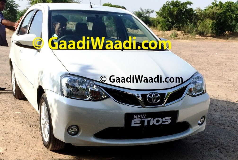New Toyota Etios facelift spied