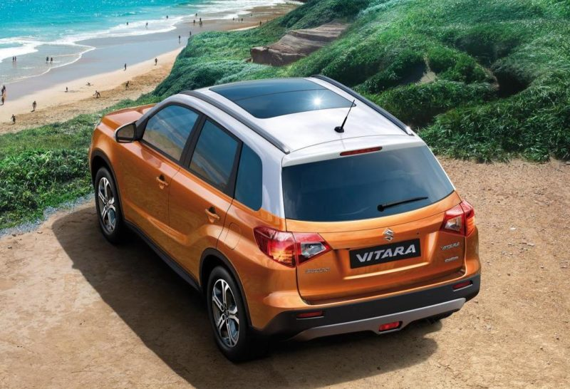 Suzuki Vitara compact SUV in orange paint