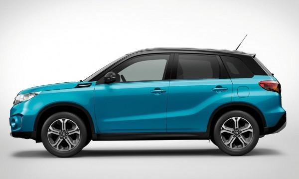 Suzuki Vitara compact SUV side profile and ORVMs with turn indicators