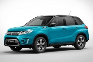 Suzuki Vitara compact SUV side profile and alloy wheels