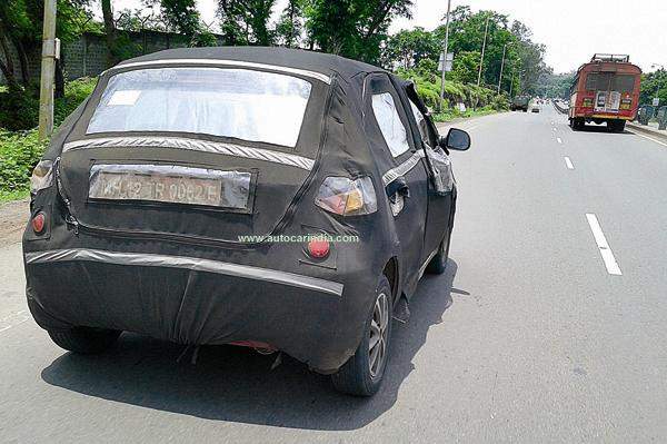 Tata Kite hatchback spied rear profile