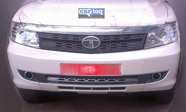 Tata Safari Storme facelift front grille and bumper