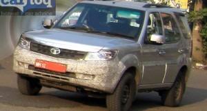 Tata Safari Storme facelift spied again