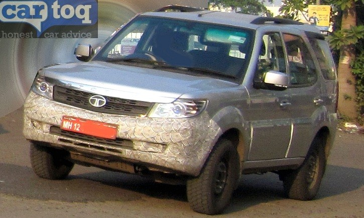 Tata Safari Storme facelift spied again