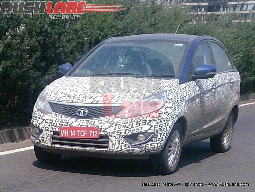 Tata Zest compact sedan petrol AMT spied