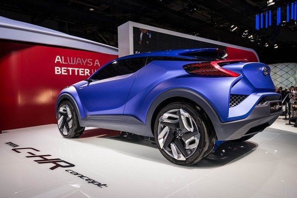Toyota C-HR Compact SUV Concept in Paris rear profile