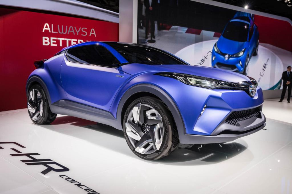 toyota c hr crossover concept to spawn new compact suv. Black Bedroom Furniture Sets. Home Design Ideas