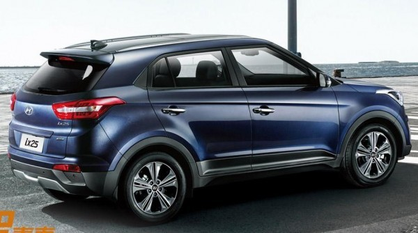 Hyundai ix25's production model unveiled in China side profile