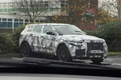 Jaguar C-X17 spied testing for the first time