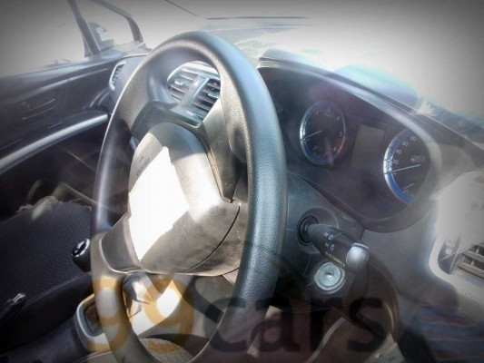 Maruti Suzuki SX4 S-Cross diesel spied steering wheel and instrument panel