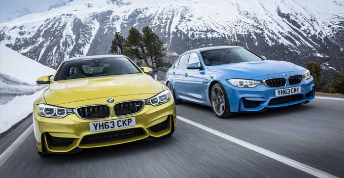 New BMW M3 sedan and M4 Coupe