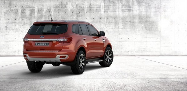 New Ford Endeavour rear profile