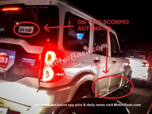 New Mahindra Scorpio AT spied