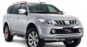 Next generation Mitsubishi Pajero Sport rendered image
