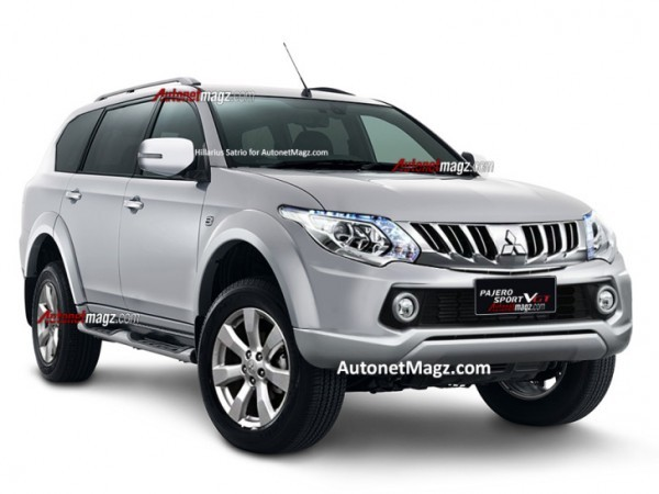 Next generation Mitsubishi Pajero Sport rendered image