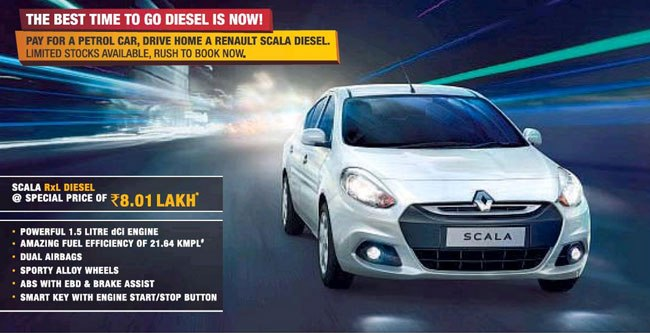 Renault Scala diesel offer