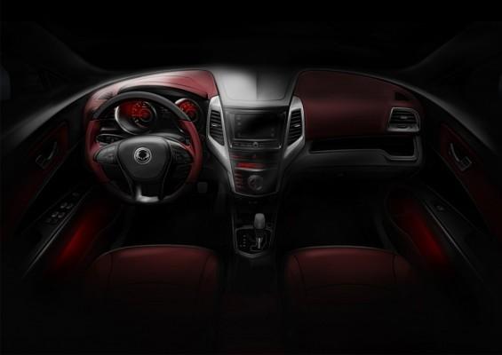 SsangYong Tivoli compact SUV interiors
